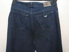 RR31) WOMENS BLUE A.J ARMANI BOOTCUT JEANS ZIP FLY WAIST 30L LEG 34