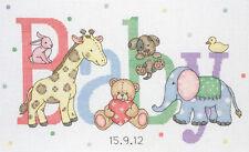 Anchor Punto De Cruz Kit-Baby Animals-registro de nacimiento-ACS30