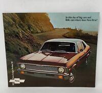 Chevrolet Nova 1971 SS Chevy Car Dealer Showroom Vintage Sales Brochure 18-1254