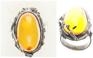 Bernstein Ring, Silber 925, 12,28g, 56 Ringgröße sehr guter Zustand