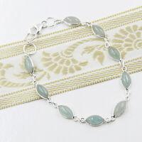 Aquamarin Armband Silber 925 Handschmuck Sterlingsilber Tennisarmband Armkette