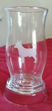 Chihuahua Dog Hurricane Candle Lamp Etched Glass Nwot Collector