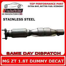 Rover MG ZT Dummy Decat 1.8T Replacement Cat Exhaust Pipe, Stainless Steel