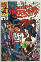 THE AMAZING SPIDER-MAN: SKATING ON THIN ICE #1 (Canadian Variant) Marvel, 1990
