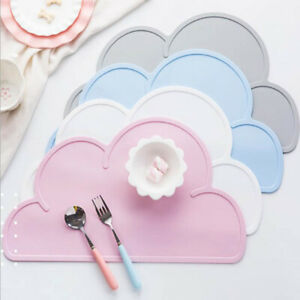Baby Bowl Room Silicone Place Mat Table Mat Cloud Shaped Kitchen Pad Dining