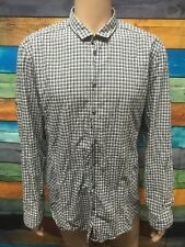 (Used) Mens Hugo Boss Button Front Long Sleeve Shirt Size: XXL Checks