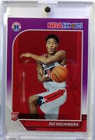 2019-20 Panini NBA Hoops Purple Rui Hachimura Rookie RC #206, Washington Wizards