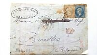 FRANCE - Commercial Folded Cover - 1869 - Rare PD Cancel - 2 Stamps
