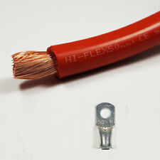 Batería 50 mm² rojo Cable de soldadura 345 A Amperios Pvc Flexible libre del estirón Por Metro