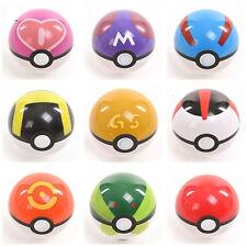 Pokemon Pokeball Pop-up Cartoon Plastic BALL Pikachu Monster Toy Kids Gift 7cm