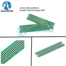 2PCS Double Side Prototype PCB Tinned Universal Breadboard 2x8 cm 20mmx80mm FR4
