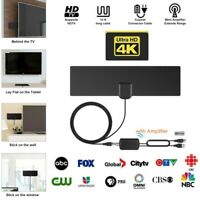 80-Miles Range Amplified HD Digital TV Antenna 4K 1080P VHF UHF US Local Channel