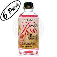 ROSE WATER Flower Water Skin Face Facial toner Cleanser Agua de Rosas Cara 6-PK