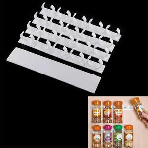 20 Clips Kitchen Chip Spice Jar Rack Storage Holder Cupboard Door Cabinet Wall