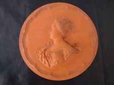 Medaillon terre cuite sculpture marquise de Bouffry