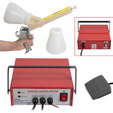 Pc03 2 Portable Professional Powder Coating System Paint Gun Coat Kit Red 110v