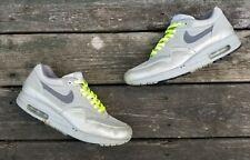Vintage 2000s Nike Air Max 1 Metallic Silver/Neon Green ID Size 10 314232-992