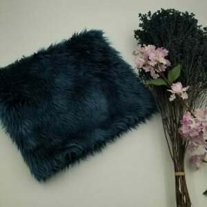 Teal Faux Fur Photo Prop Newborn Nest Photography Blanket FREE SHIPPING!!!
