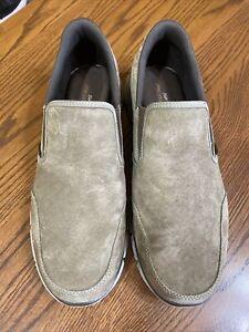 Men's Skechers Khaki Suede Memory Foam Size 11