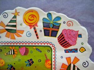 """8 SHEETS 20"""" x 20""""BIRTHDAY PARTY TISSUE GIFT WRAP PAPER ~ 4 Solid 4 Printed"""