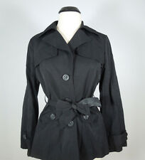 URBAN BEHAVIOR Black Trench Coat Juniors size L