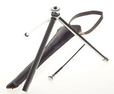 MINOX camera tripod chrome ball head compact with release cable and leather used