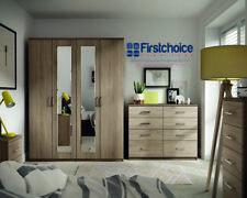 Ready Assembled Medina Coco Wenge Wardrobe Drawer Complete Bedroom Furniture Set