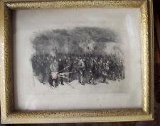 EAU FORTE <AUGUSTE LANCON <SUR LE CHEMIN DE FER  1870 <ENCADREMENT S VERRE