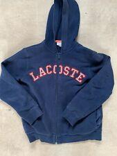 Lacoste Boys Navy Blue Zip Up Hoody Jumper 10 Years