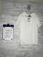 Lumiere T Shirt Women's White Size L Short Sleeve See Thru