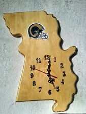 St. Louis Rams, Missouri state wood quartz wall clock team / logo
