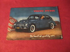 1957? Volvo Sales Sheet Brochure Booklet Catalog Old Original Book