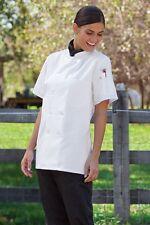 Tahoe Womens Chef coat Short Sleeve XS-3XL, Black or White 0478