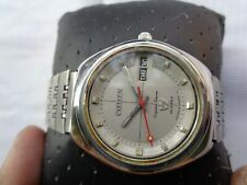 Vtg Ultra Rare Collectible Ss Citizen Crystal 7 Japan Mens Automatic Wristwatch