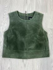 OASIS Bottle Green Suede Leather Premium Top Size 10
