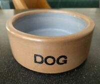 Vintage BRETBY STONEWARE ENGLAND BLUE DOG BOWL  DISH WATER FOOD PUPPY