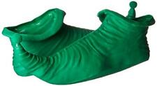Elf Boots Green Rubber Costume Character Holiday  Shoes W/ Pompom