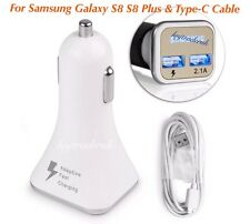 For Samsung Galaxy S8/S9/Plus In Car Rapid Charger & Rapid Charge Usb Lead Cable