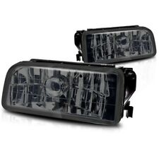 For 1992-1998 BMW E36 M3 Chrome Fog Lights Replacement Lamps Smoke Lens