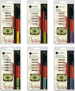 Manuscript Leonardt Dip Pen Sets |Copperplate|Drawing|Oblique|Ornamental|RH 1&2