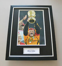 Oliver Kahn Signed Framed 16x12 Photo Bayern Munich Autograph Display + COA