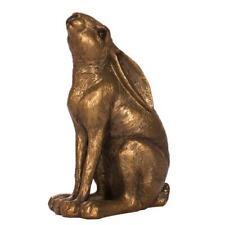 Small Bronzed Hare Moon Gazing - Home & Decor - Gift Idea - NEW