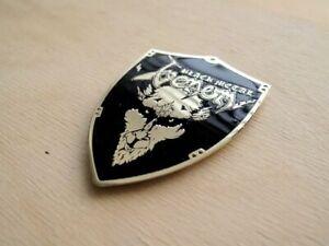 Etched Brass VENOM Patch Brooch Badge 1Burzum Celtic Frost DarkThrone Possessed