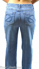 "CHICOS ""Platinum"" Jeans Chico Size 1 Short EUC Denim Pants Slacks stretch blue"