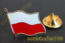 Poland Polish National Flag Waving Metal Lapel Pin Badge
