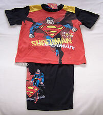 DC Comics Superman Boys Red Black Printed Pyjama Set Size 3 New