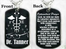 OPTOMETRIST PRAYER - Dog tag Necklace/Keychain + FREE ENGRAVING