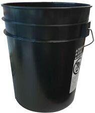 5 Gallon Black Buckets Handle 10 Pack Bucket Plastic Pails Garden Water Storage