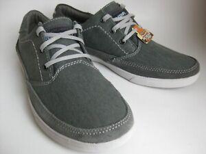 Skechers Cardova Bartos Relaxed Fit Memory Foam Grey Boat Shoes (Mens US 7.5)_