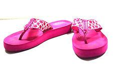 Coach Women's Sandals 5.5 B Pink White monogram women